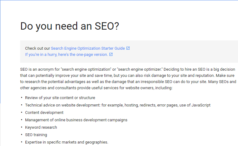 do you need seo